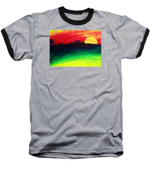 Sunset Baseball T-Shirt by Salman Ravish