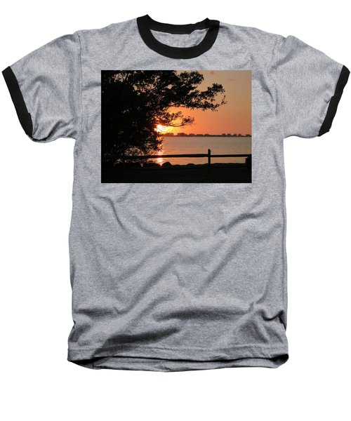 Sunset On Sarasota Harbor Baseball T-Shirt