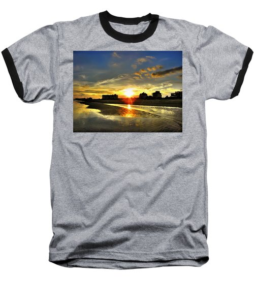 Baseball T-Shirt featuring the photograph Sunset by Savannah Gibbs