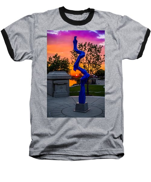 Sunset Sculpture Baseball T-Shirt