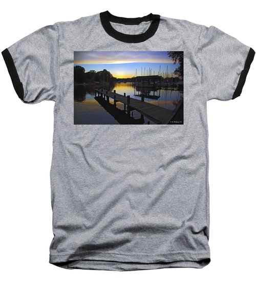 Baseball T-Shirt featuring the photograph Sunset Silhouette by Brian Wallace