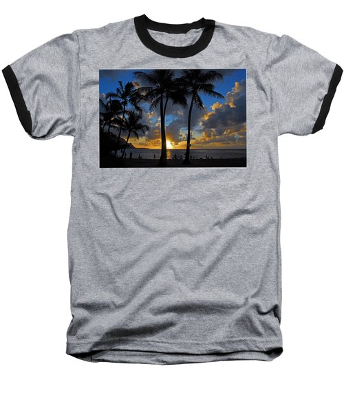 Baseball T-Shirt featuring the photograph Sunset Silhouettes by Lynn Bauer
