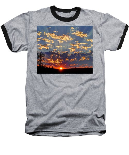 Sunset Spectacle Baseball T-Shirt by Peter Mooyman