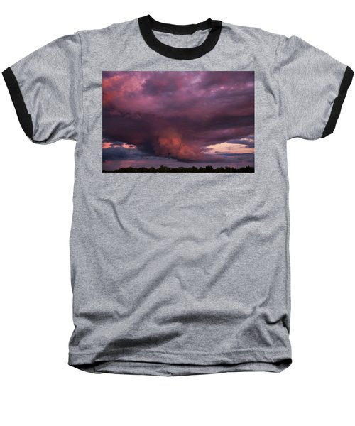 Baseball T-Shirt featuring the photograph Sunset Storm by Toni Hopper