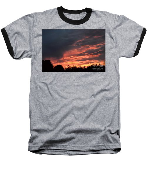 Baseball T-Shirt featuring the photograph Sunset Streaks by Luther Fine Art