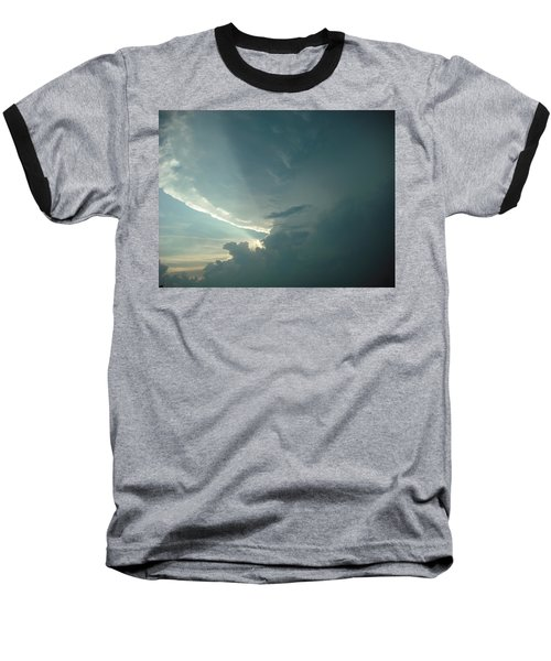 Baseball T-Shirt featuring the photograph Sunset Supercell by Ed Sweeney