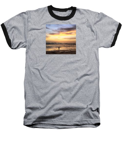 Sunset Surfer Baseball T-Shirt