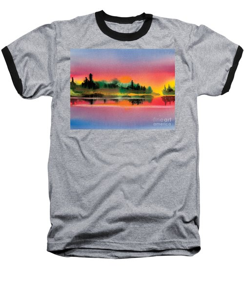 Baseball T-Shirt featuring the painting Sunset by Teresa Ascone