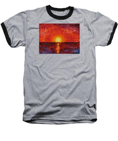 Sunset Baseball T-Shirt by Teresa Wegrzyn