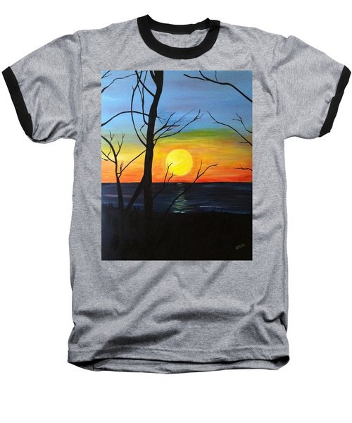 Sunset Through The Branches Baseball T-Shirt