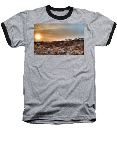 Sunset Through The Fog Baseball T-Shirt
