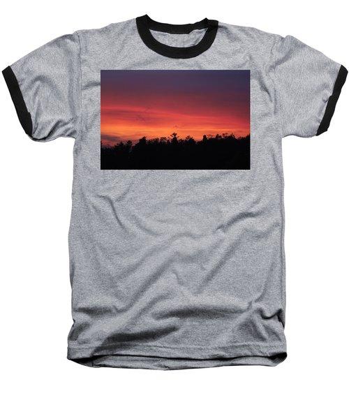 Sunset Tones Baseball T-Shirt by Tom Culver