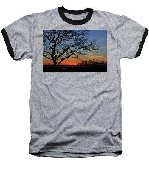 Sunset Tree In Ocean City Md Baseball T-Shirt