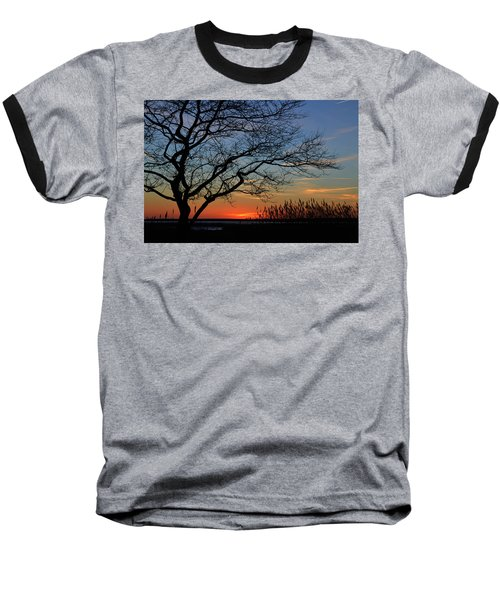 Sunset Tree In Ocean City Md Baseball T-Shirt