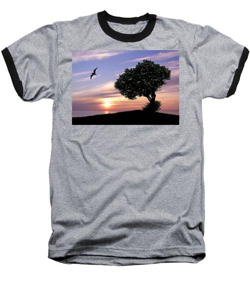 Sunset Tree Of Tranquility Baseball T-Shirt