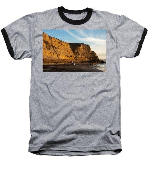 Sunset Walk At Flat Rock  La Jolla California Baseball T-Shirt
