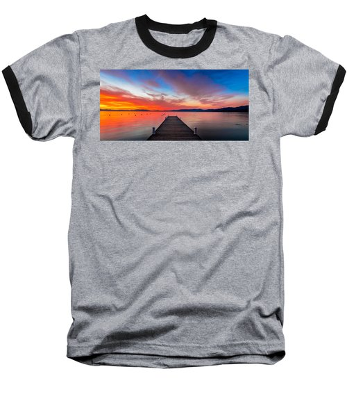 Sunset Walkway Baseball T-Shirt