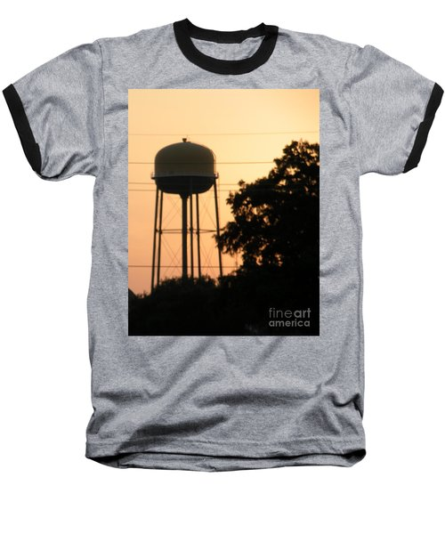 Sunset Water Tower Baseball T-Shirt