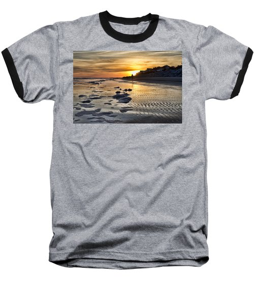 Sunset Wild Dunes Beach South Carolina Baseball T-Shirt
