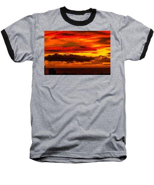 Sunset Wow2 Baseball T-Shirt
