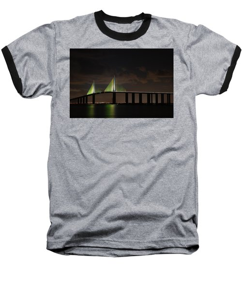 Sunshine Skyway Bridge Baseball T-Shirt