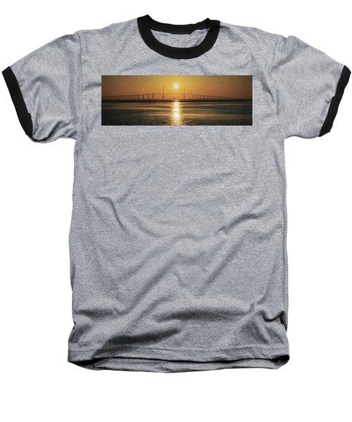 Baseball T-Shirt featuring the photograph Sunshine Skyway Bridge Sunrise by Steven Sparks