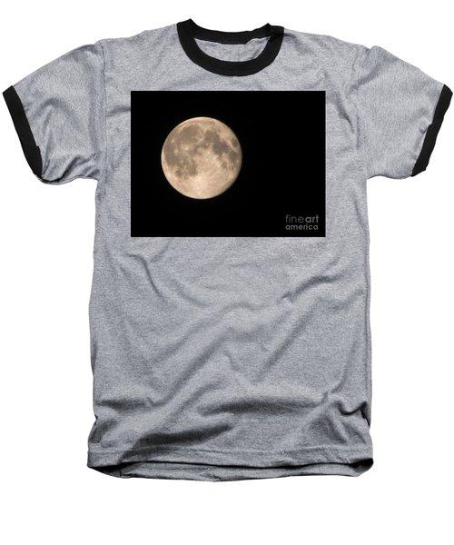 Super Moon Baseball T-Shirt by David Millenheft