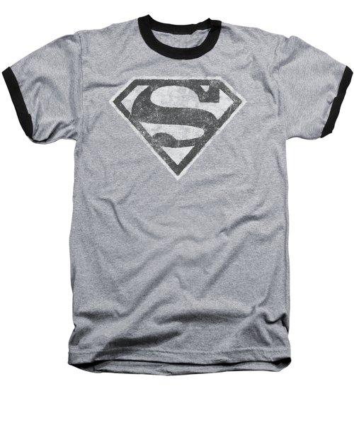 Superman - Grey S Baseball T-Shirt