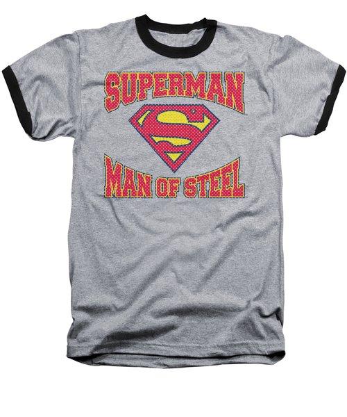 Superman - Man Of Steel Jersey Baseball T-Shirt