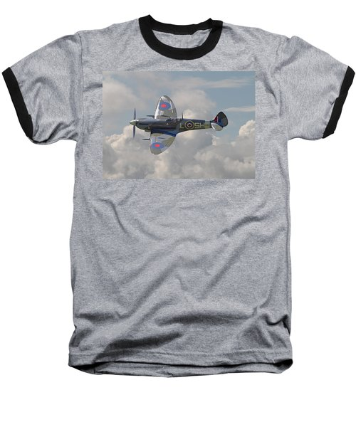 Supermarine Spitfire Baseball T-Shirt by Pat Speirs
