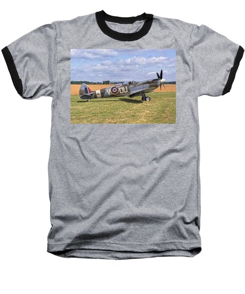 Baseball T-Shirt featuring the photograph Supermarine Spitfire T9 by Paul Gulliver