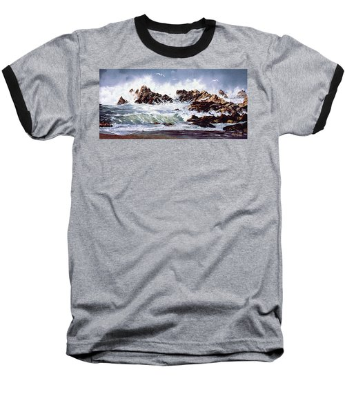 Surf At Lincoln City Baseball T-Shirt by Craig T Burgwardt