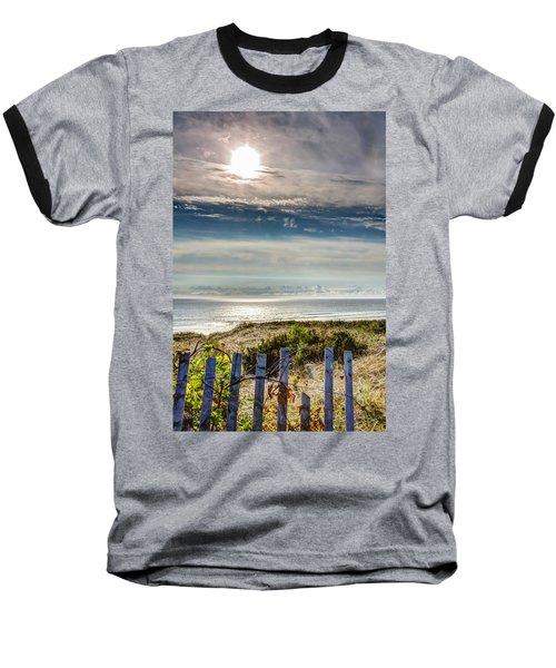 Surfers At Coast Guard Beach Baseball T-Shirt by Brian Caldwell