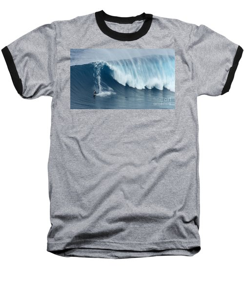 Surfing Jaws 5 Baseball T-Shirt by Bob Christopher