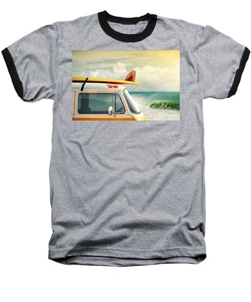 Surfing Way Of Life Baseball T-Shirt by Carlos Caetano