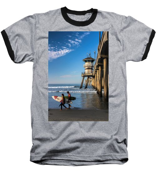 Baseball T-Shirt featuring the photograph Surf's Up by Tammy Espino