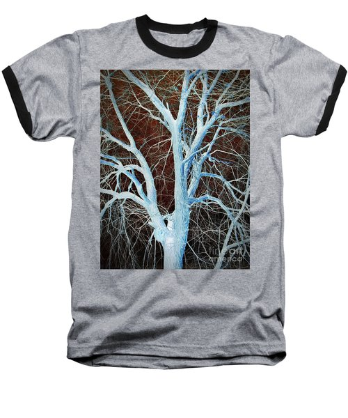 Surreal Blue Tree Baseball T-Shirt