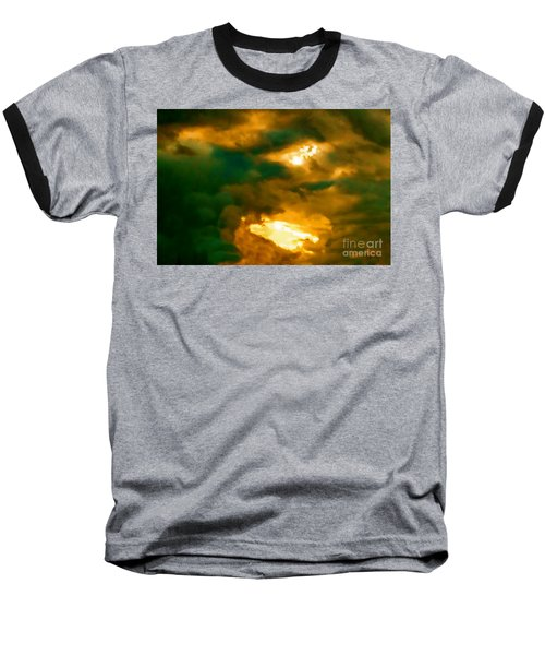 Surreal Sunset Baseball T-Shirt by Anita Lewis