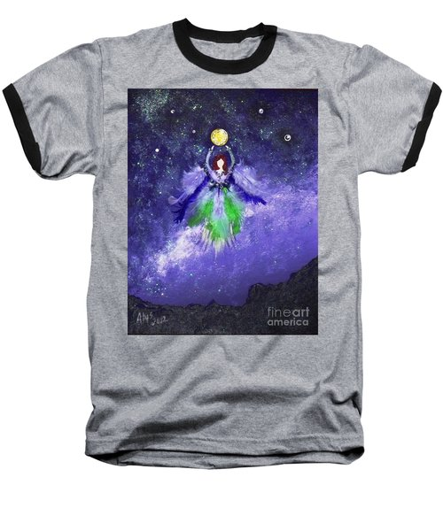 Baseball T-Shirt featuring the painting Survivor by Alys Caviness-Gober