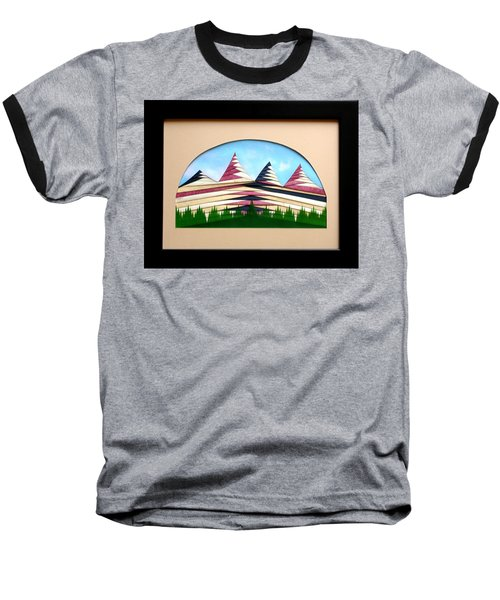 Baseball T-Shirt featuring the mixed media Sushi by Ron Davidson