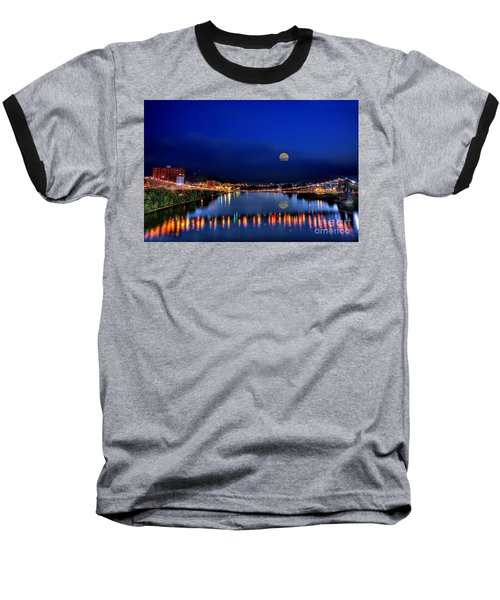 Suspension Bridge Baseball T-Shirt by Dan Friend