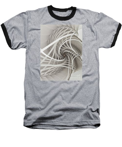 Suspension Bridge-fractal Art Baseball T-Shirt by Karin Kuhlmann