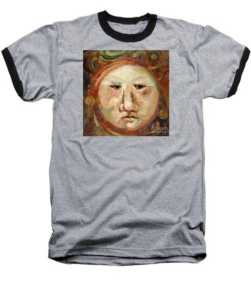 Suspicious Moonface Baseball T-Shirt