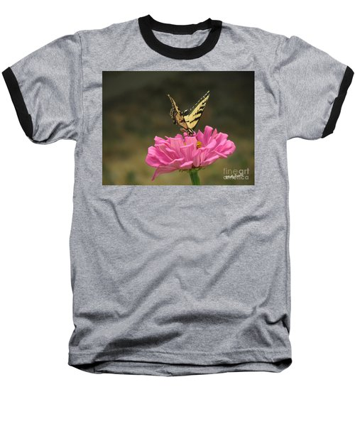 Swallowtail On A Zinnia Baseball T-Shirt