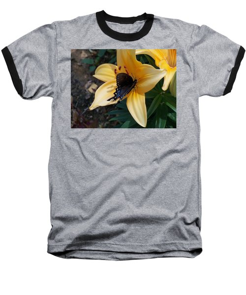 Baseball T-Shirt featuring the photograph Swallowtail On Asiatic Lily by Kathryn Meyer