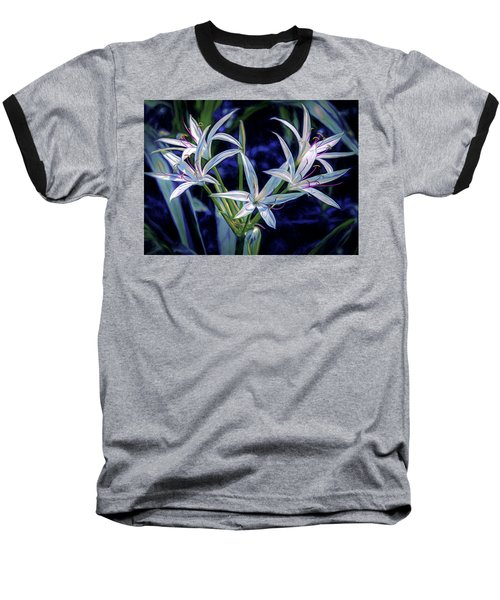 Baseball T-Shirt featuring the photograph Swamp Lilies by Steven Sparks