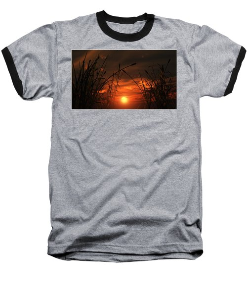 Swamp Sunset  Baseball T-Shirt by Tim Fillingim