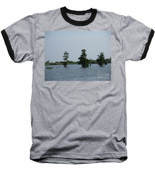 Baseball T-Shirt featuring the photograph Swamp Tall Cypress Trees  by Joseph Baril