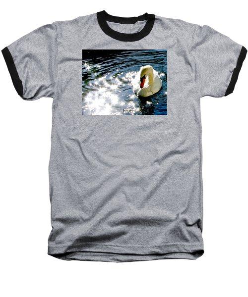Swan In Sun Sparkles 02 Baseball T-Shirt