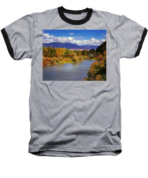 Swan Valley Autumn Baseball T-Shirt by Leland D Howard